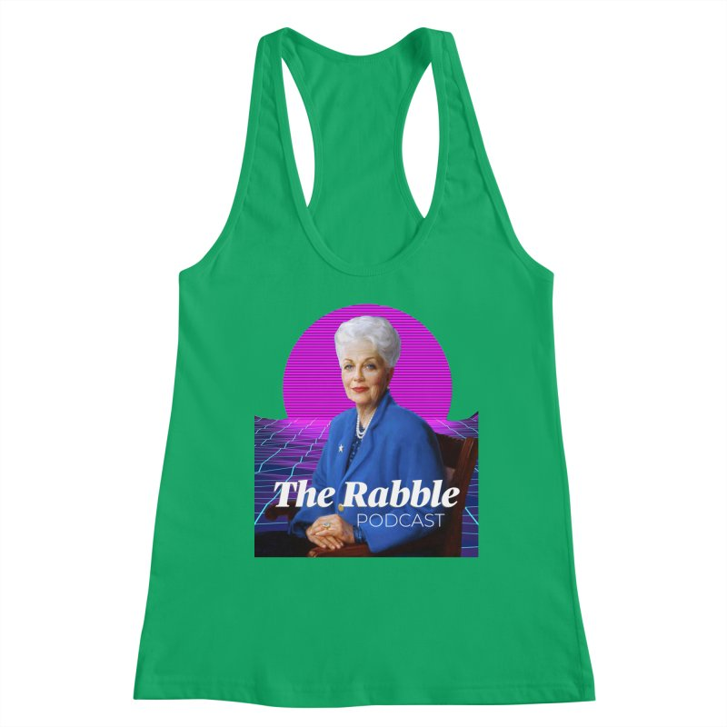 Ann Richards Pink Sun, The Rabble Podcast Women's Tank by Rouser