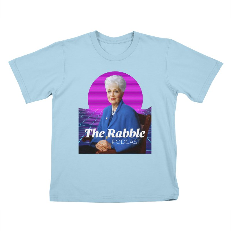 Ann Richards Pink Sun, The Rabble Podcast Kids T-Shirt by Rouser