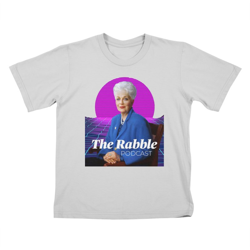 Ann Richards Pink Sun, The Rabble Podcast Kids T-Shirt by Rouser