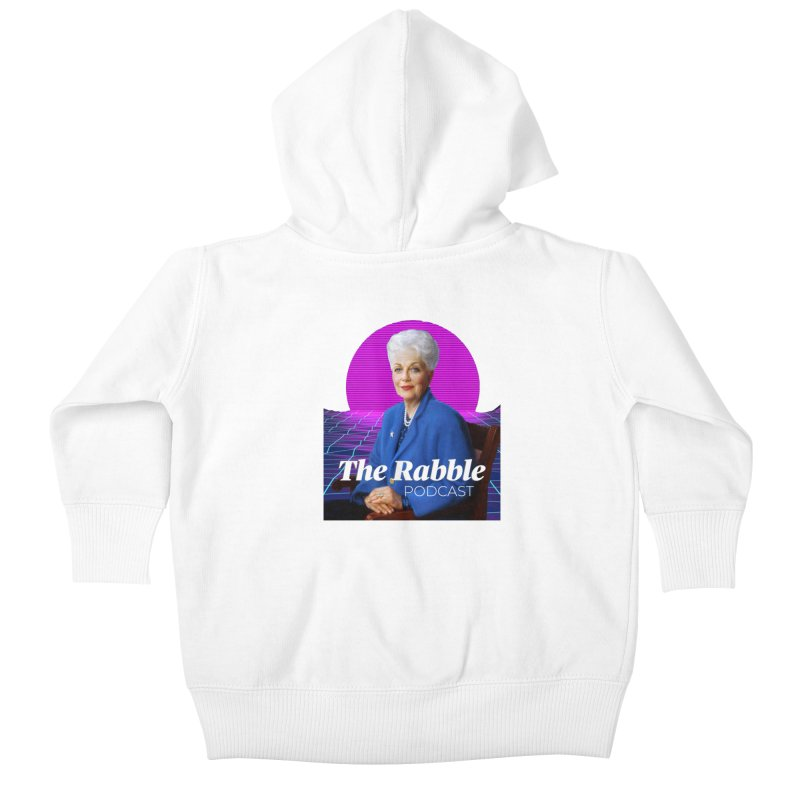 Ann Richards Pink Sun, The Rabble Podcast Kids Baby Zip-Up Hoody by Rouser
