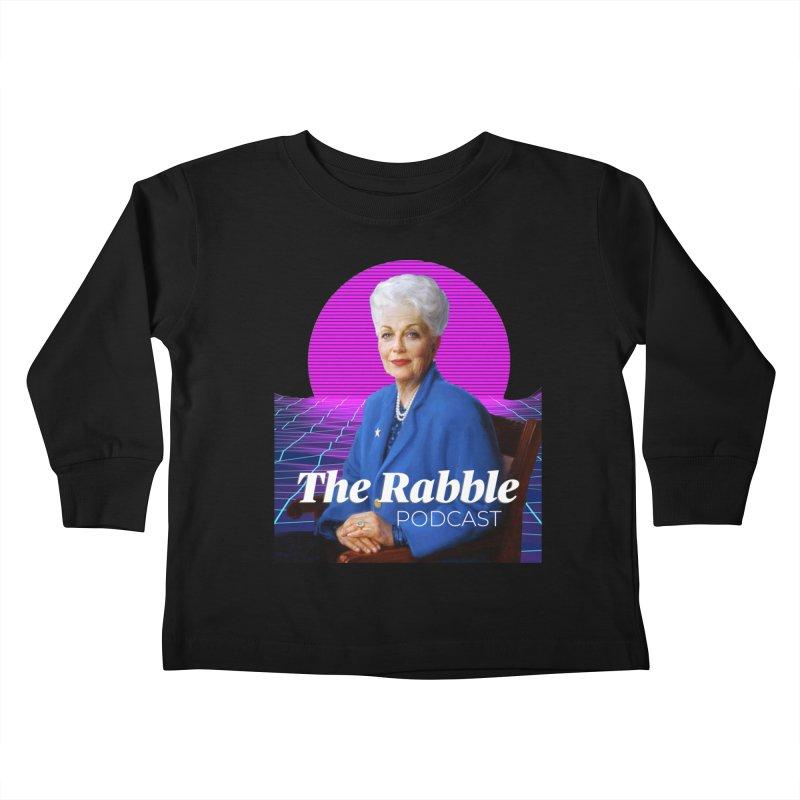 Ann Richards Pink Sun, The Rabble Podcast Kids Toddler Longsleeve T-Shirt by Rouser