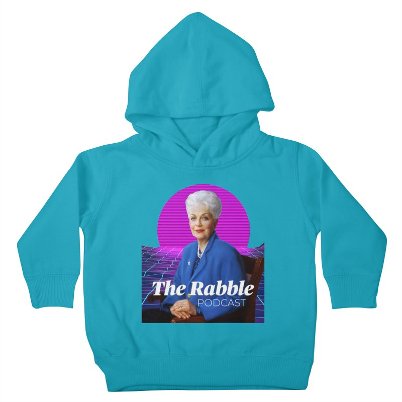 Ann Richards Pink Sun, The Rabble Podcast Kids Toddler Pullover Hoody by Rouser