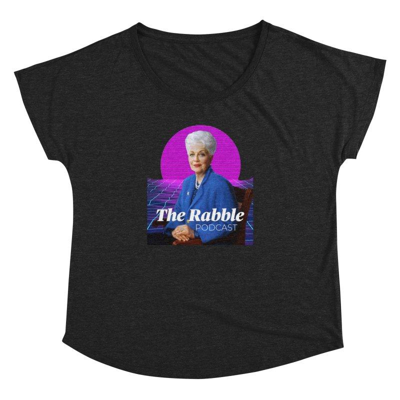 Ann Richards Pink Sun, The Rabble Podcast Women's Dolman Scoop Neck by Rouser