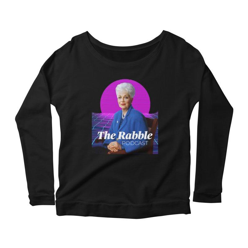 Ann Richards Pink Sun, The Rabble Podcast Women's Scoop Neck Longsleeve T-Shirt by Rouser