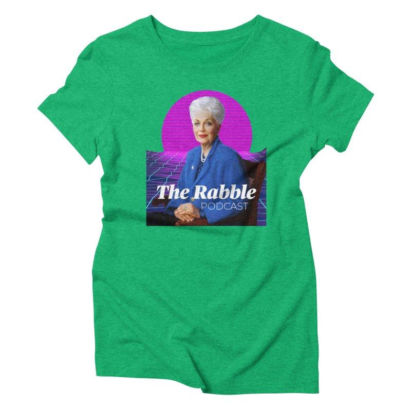 Ann Richards Pink Sun, The Rabble Podcast Women's Triblend T-Shirt by Rouser