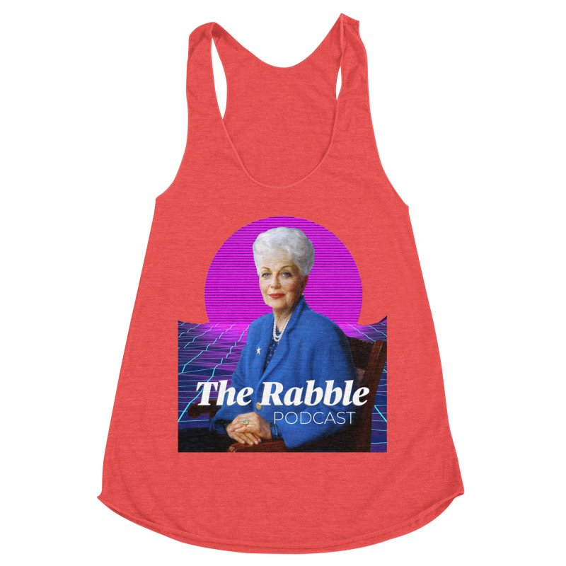 Ann Richards Pink Sun, The Rabble Podcast Women's Racerback Triblend Tank by Rouser