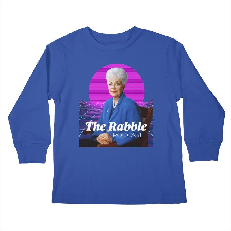 Ann Richards Pink Sun, The Rabble Podcast Kids Longsleeve T-Shirt by Rouser
