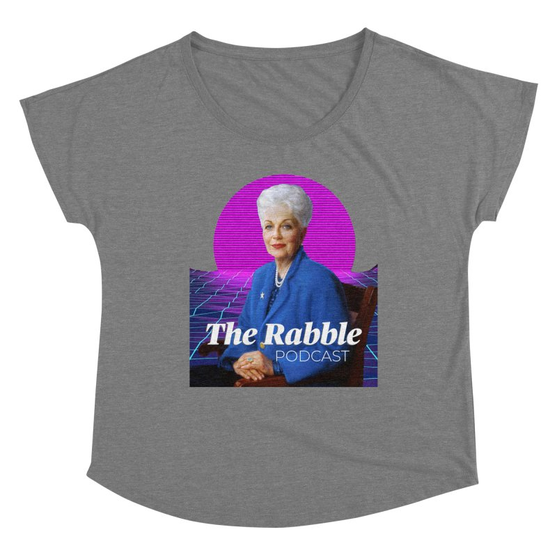 Ann Richards Pink Sun, The Rabble Podcast Women's Scoop Neck by Rouser