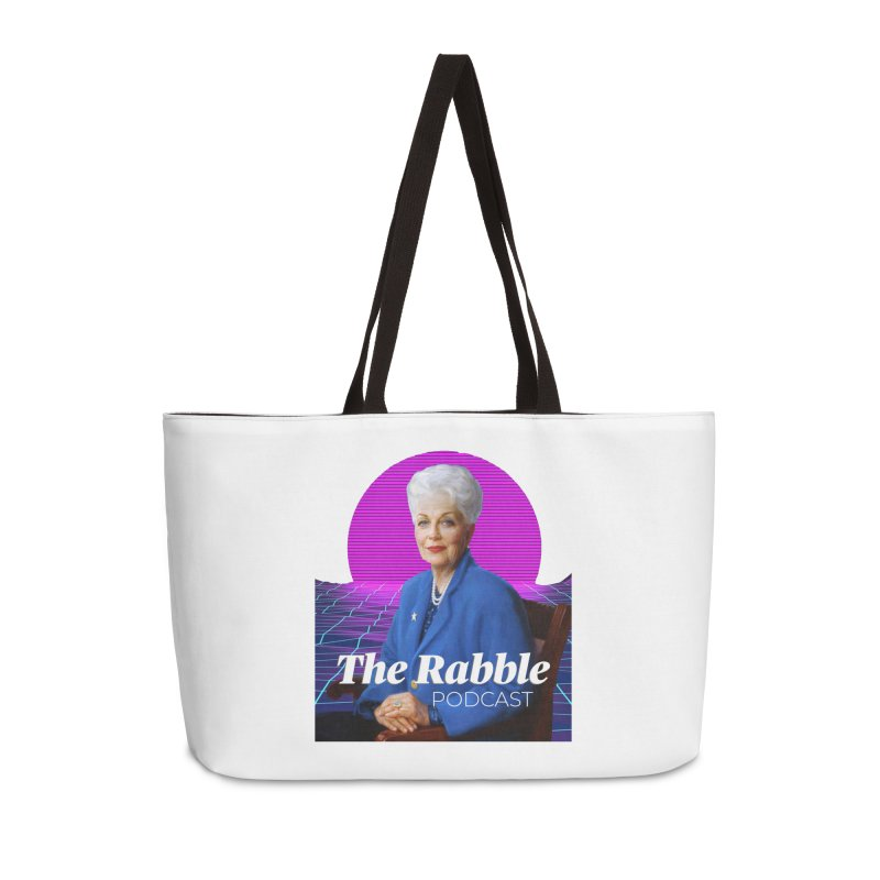 Ann Richards Pink Sun, The Rabble Podcast Accessories Weekender Bag Bag by Rouser