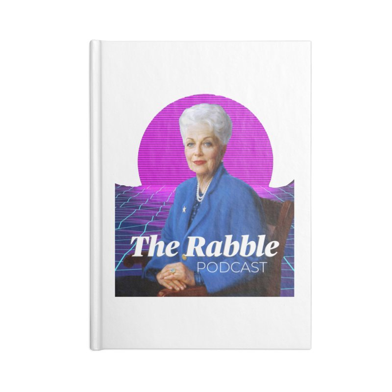 Ann Richards Pink Sun, The Rabble Podcast Accessories Lined Journal Notebook by Rouser