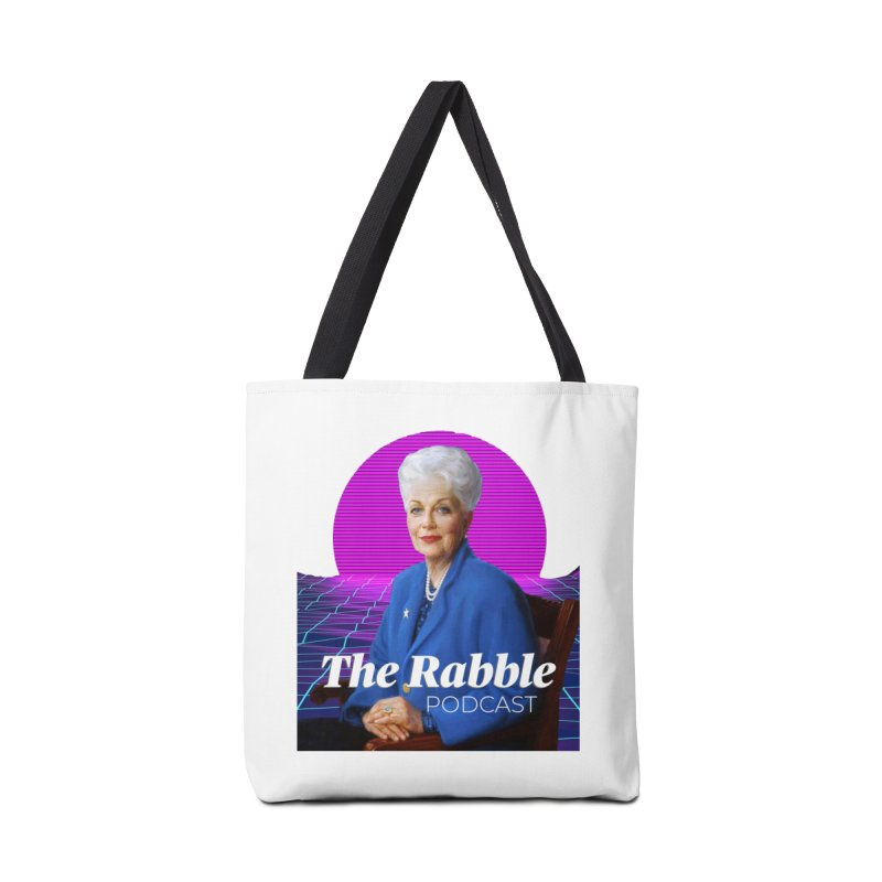 Ann Richards Pink Sun, The Rabble Podcast Accessories Tote Bag Bag by Rouser