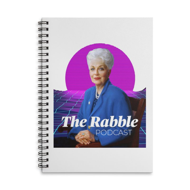 Ann Richards Pink Sun, The Rabble Podcast Accessories Lined Spiral Notebook by Rouser