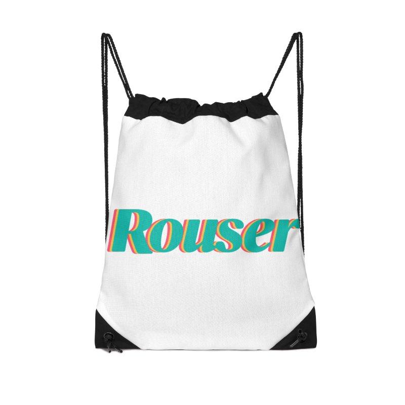 Rouser Logo Accessories Drawstring Bag Bag by Rouser