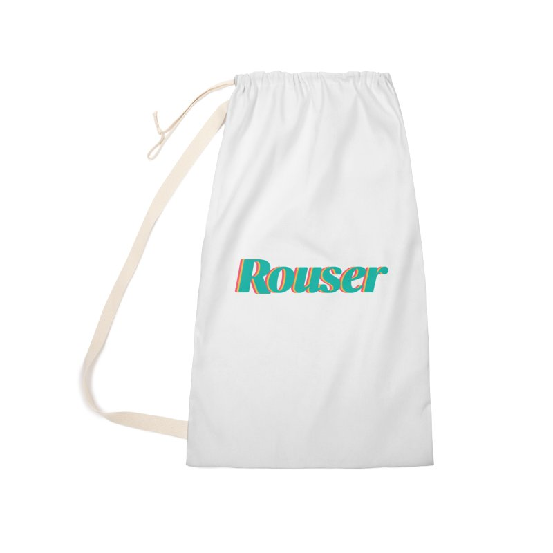 Rouser Logo Accessories Laundry Bag Bag by Rouser