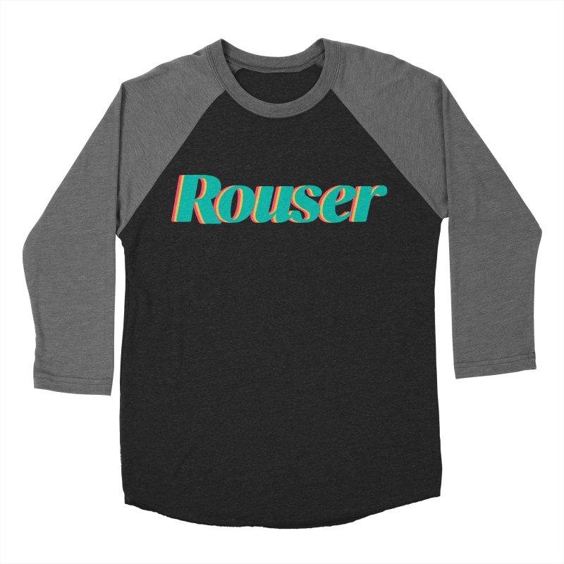 Rouser Logo Women's Baseball Triblend Longsleeve T-Shirt by Rouser