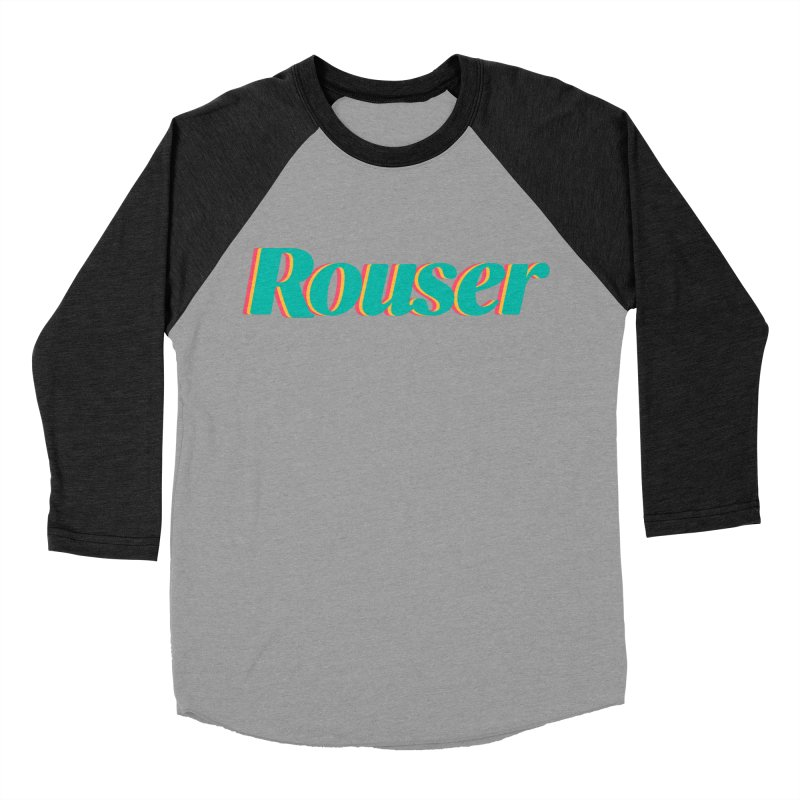 Rouser Logo Men's Baseball Triblend Longsleeve T-Shirt by Rouser