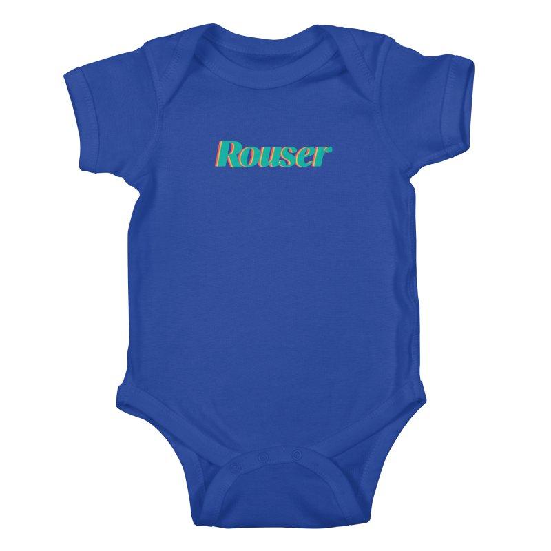 Rouser Logo Kids Baby Bodysuit by Rouser