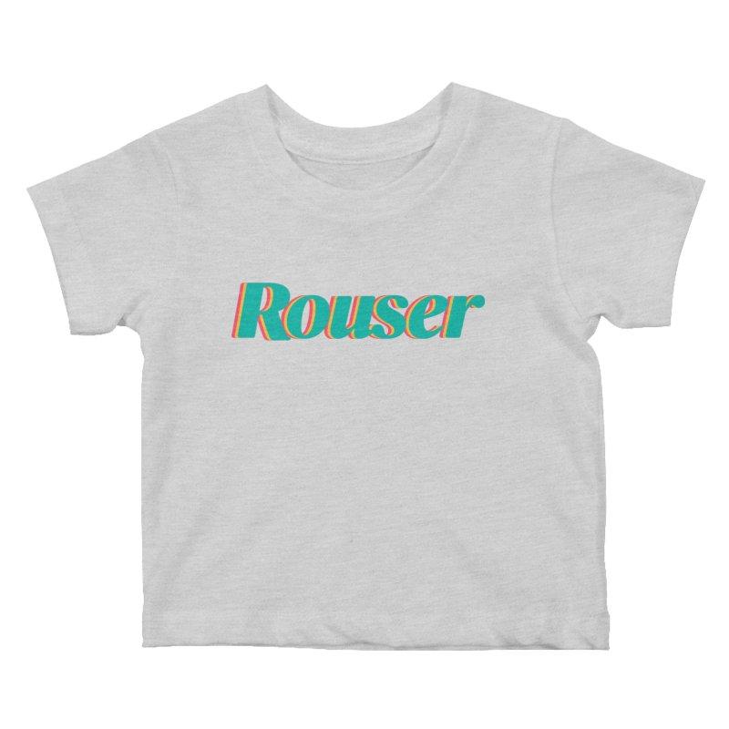 Rouser Logo Kids Baby T-Shirt by Rouser