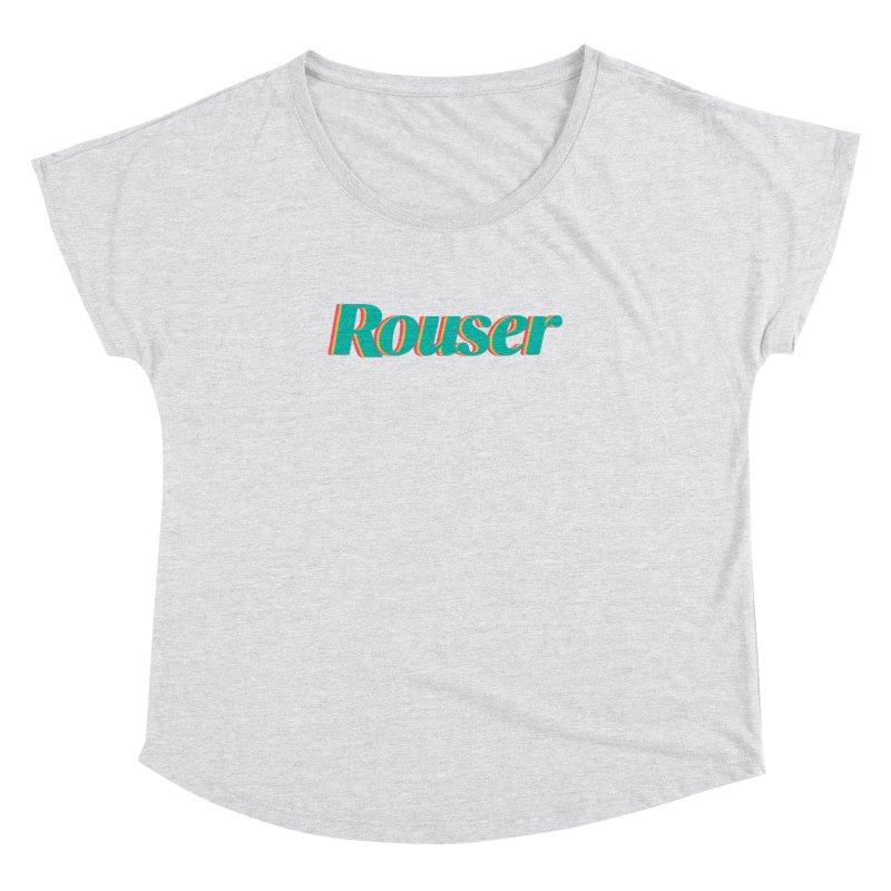 Rouser Logo Women's Dolman Scoop Neck by Rouser