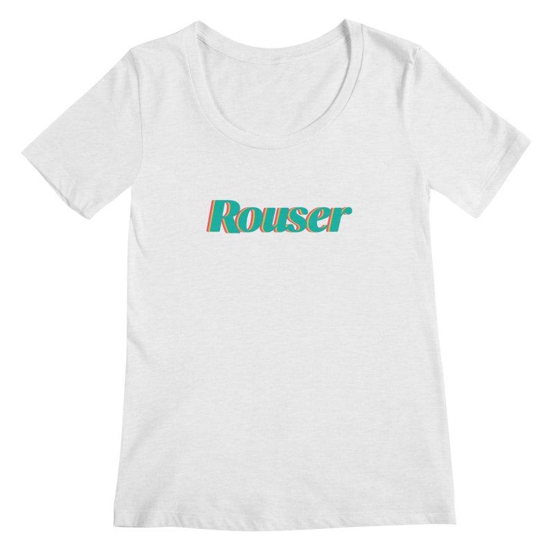 Rouser Logo Women's Regular Scoop Neck by Rouser