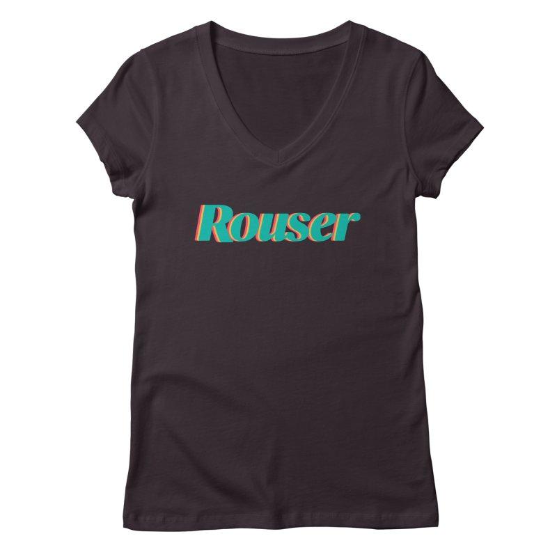 Rouser Logo Women's Regular V-Neck by Rouser