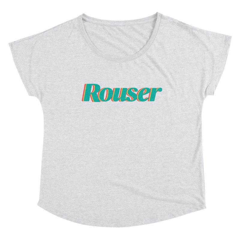 Rouser Logo Women's Scoop Neck by Rouser