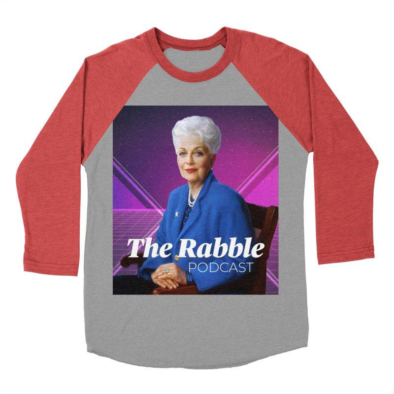 Ann Richards Lasers, The Rabble Podcast Men's Baseball Triblend Longsleeve T-Shirt by Rouser