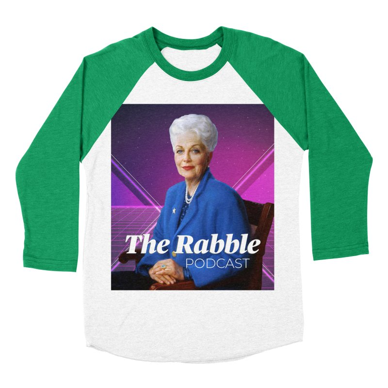 Ann Richards Lasers, The Rabble Podcast Men's Baseball Triblend Longsleeve T-Shirt by Rouser