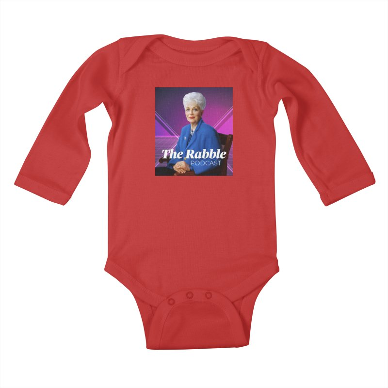 Ann Richards Lasers, The Rabble Podcast Kids Baby Longsleeve Bodysuit by Rouser