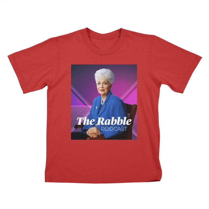 Ann Richards Lasers, The Rabble Podcast Kids T-Shirt by Rouser
