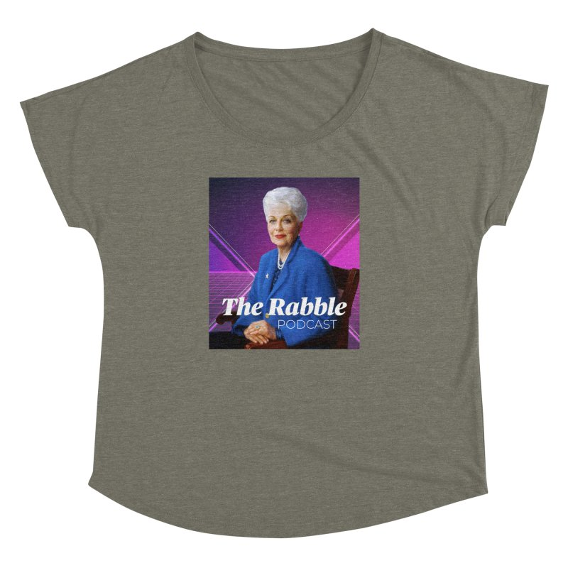 Ann Richards Lasers, The Rabble Podcast Women's Dolman Scoop Neck by Rouser