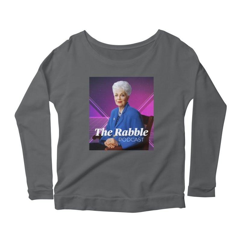Ann Richards Lasers, The Rabble Podcast Women's Scoop Neck Longsleeve T-Shirt by Rouser