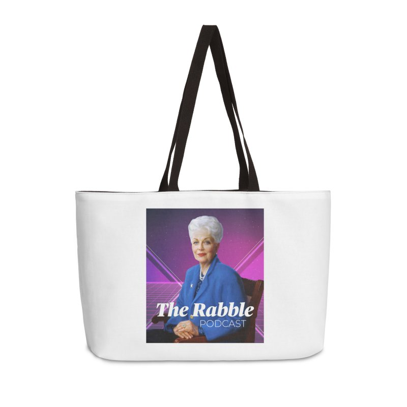 Ann Richards Lasers, The Rabble Podcast Accessories Weekender Bag Bag by Rouser
