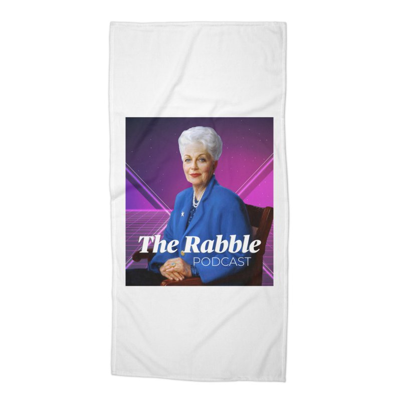 Ann Richards Lasers, The Rabble Podcast Accessories Beach Towel by Rouser