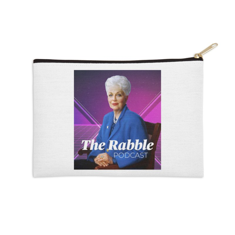 Ann Richards Lasers, The Rabble Podcast Accessories Zip Pouch by Rouser