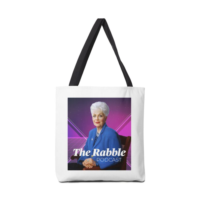 Ann Richards Lasers, The Rabble Podcast Accessories Tote Bag Bag by Rouser