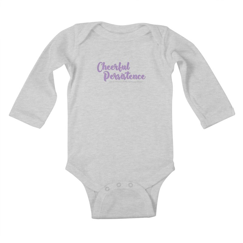 Cheerful Persistence, All Proceeds Benefit The Lone Star Victims Advocacy Project Kids Baby Longsleeve Bodysuit by Rouser