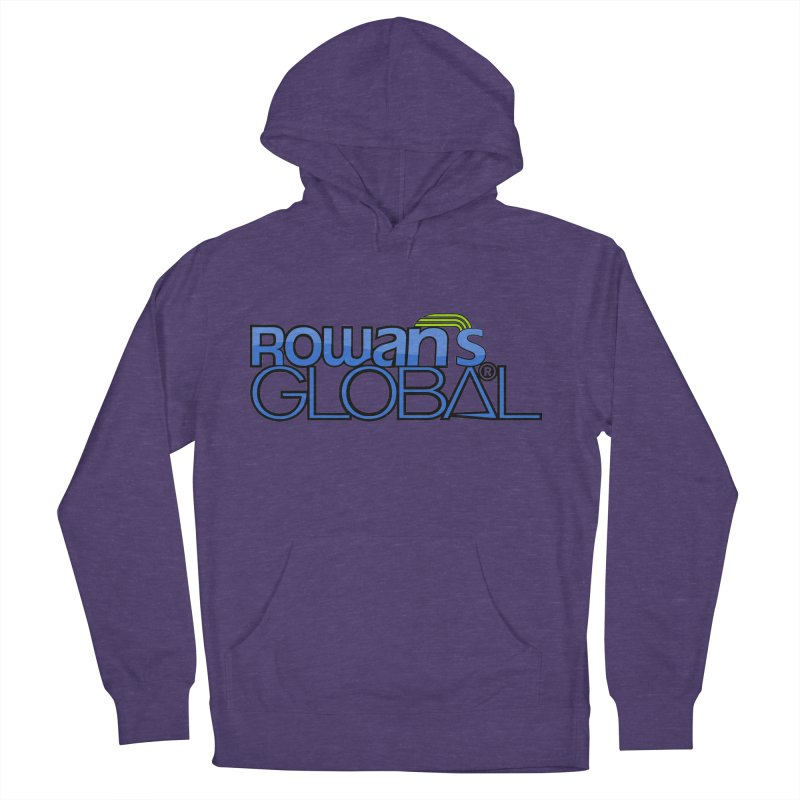 Rowan's Global Men's French Terry Pullover Hoody by rowan's Artist Shop