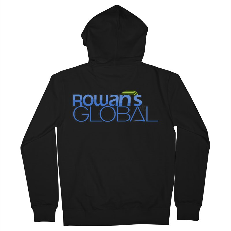 Rowan's Global Men's Zip-Up Hoody by rowan's Artist Shop
