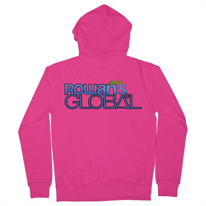 Rowan's Global Men's Zip-Up Hoody by rowan's Artist Shop