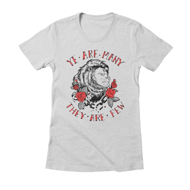 Rise Like Lions Women's Fitted T-Shirt by roxydrew