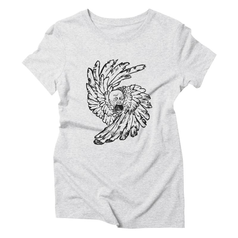 The Angel of History Women's Triblend T-Shirt by roxydrew