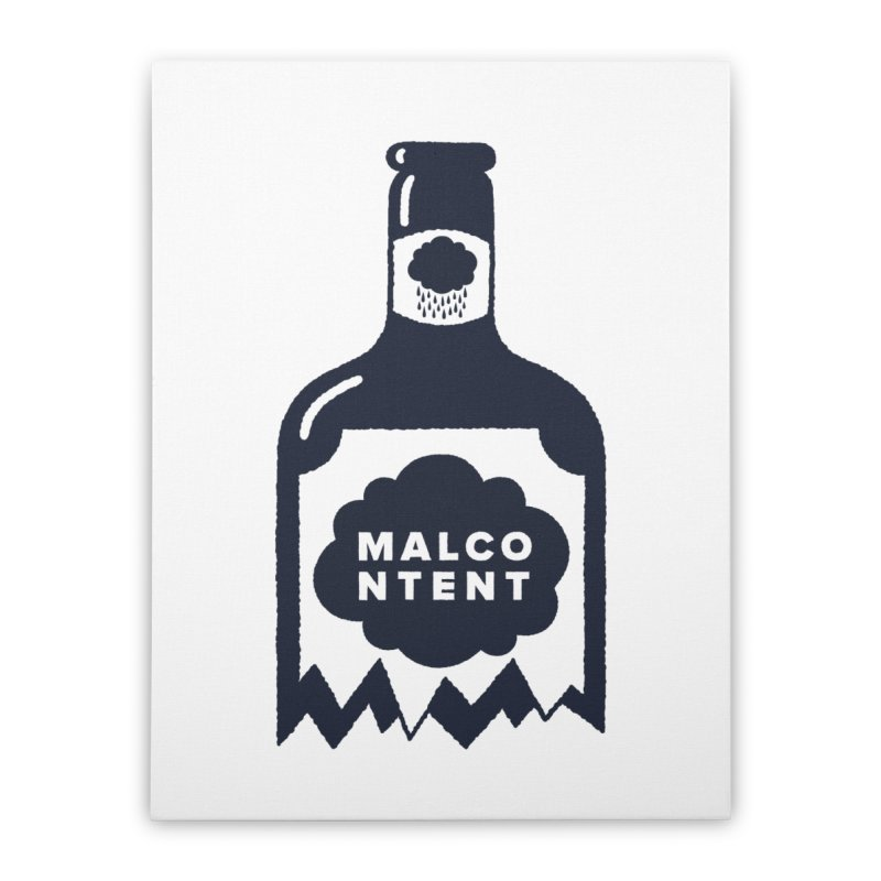 MALCONTENT Broken Bottle Home Stretched Canvas by Rick Pinchera's Artist Shop