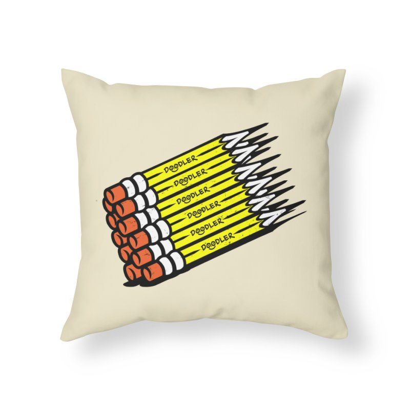 My Pencils Home Throw Pillow by rskamesado's Artist Shop