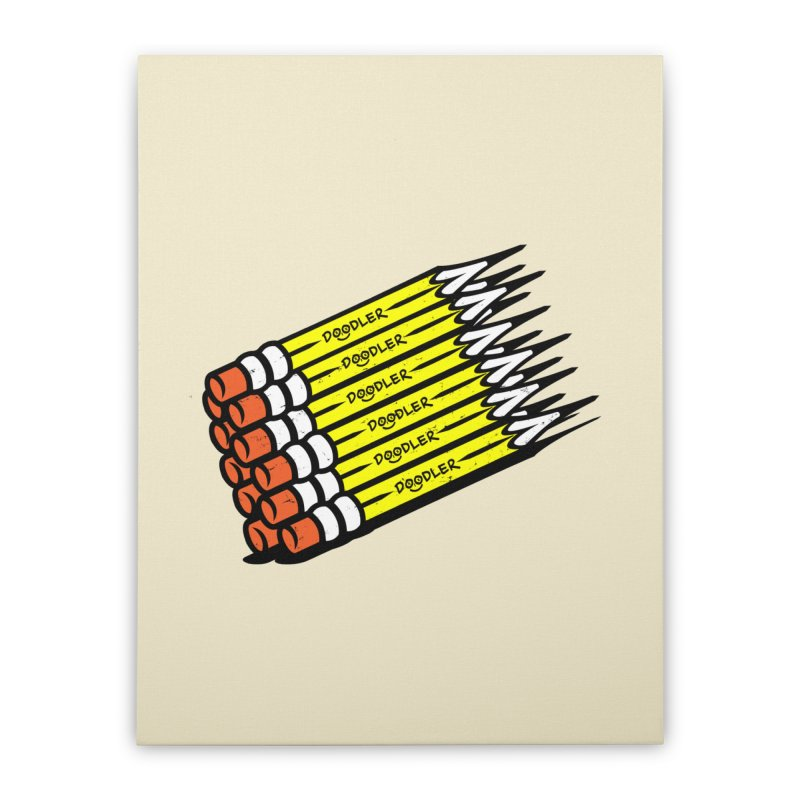 My Pencils Home Stretched Canvas by rskamesado's Artist Shop