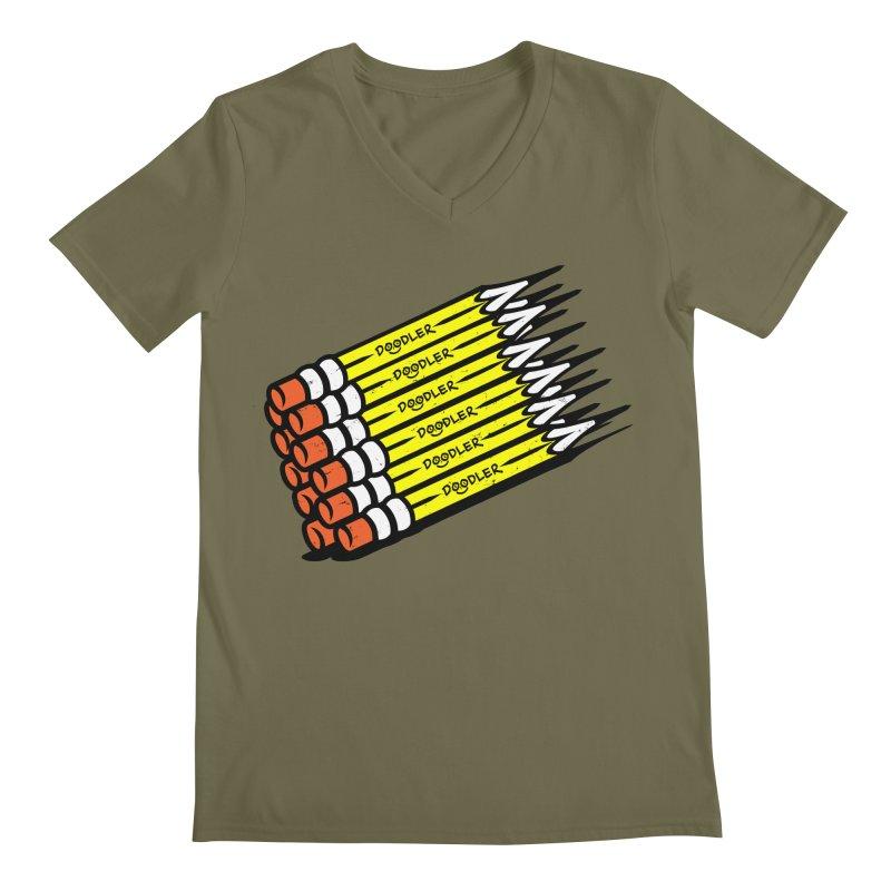 My Pencils Men's V-Neck by rskamesado's Artist Shop