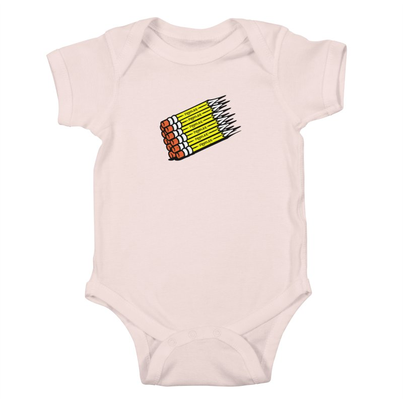 My Pencils Kids Baby Bodysuit by rskamesado's Artist Shop