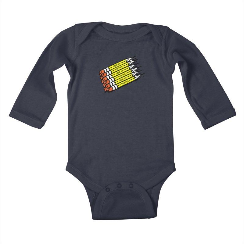 My Pencils Kids Baby Longsleeve Bodysuit by rskamesado's Artist Shop