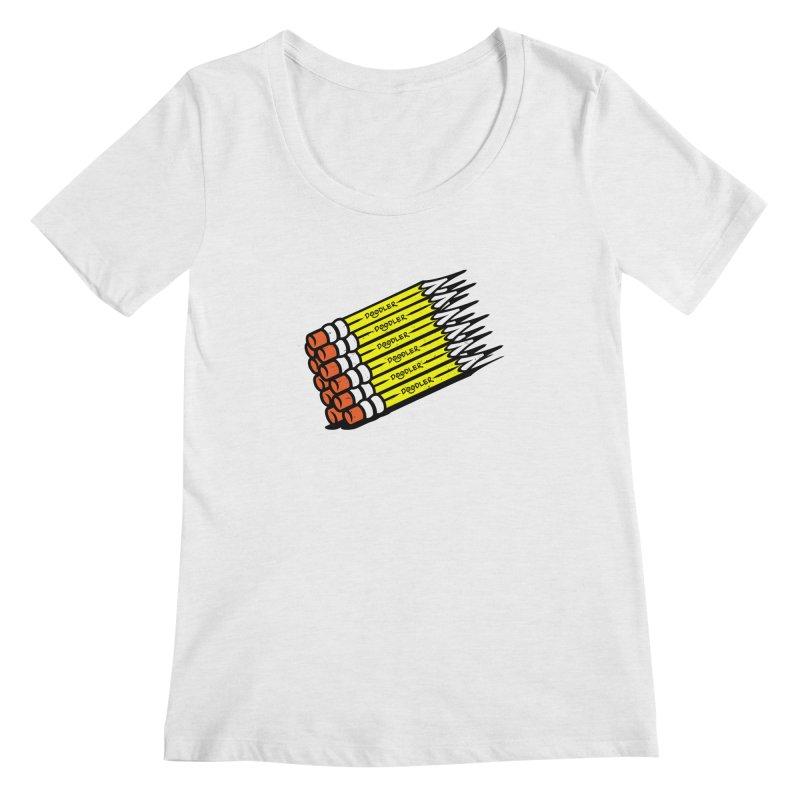 My Pencils Women's Scoop Neck by rskamesado's Artist Shop
