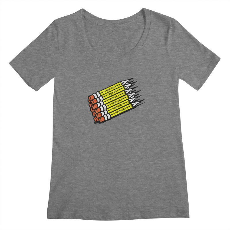 My Pencils Women's Scoopneck by rskamesado's Artist Shop